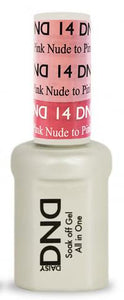 DND - Mood Change Gel - Nude to Pink 0.5 oz - #D14