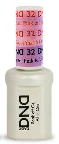 DND - Mood Change Gel - Pink to Lilac 0.5 oz - #D32
