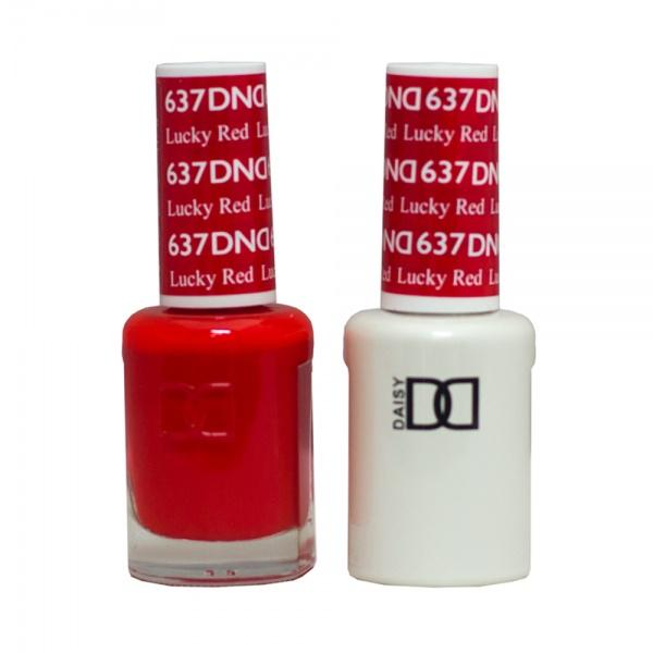 DND - Daisy Nail Design DND - Gel & Lacquer - Lucky Red - #637 - Sleek Nail