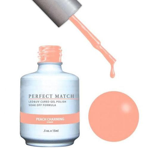 LeChat LeChat Perfect Match Gel / Lacquer Combo - Peach Charming  0.5 oz - #PMS169 - Sleek Nail