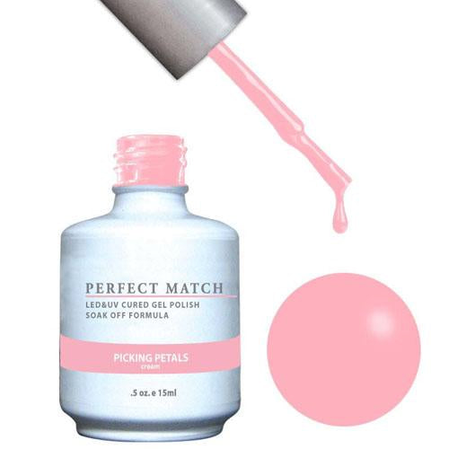 LeChat LeChat Perfect Match Gel / Lacquer Combo - Picking Petals 0.5 oz - #PMS173 - Sleek Nail