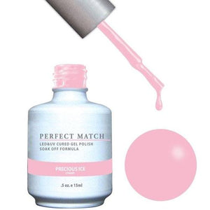 LeChat LeChat Perfect Match Gel / Lacquer Combo - Precious Ice 0.5 oz - #PMS168 - Sleek Nail