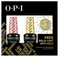 OPI GelColor - Nail Art Kit (Are We There Yet?-Pastel and Need Sunglasses-Pastel) with FREE Gold Leaf Applique, Kit - OPI, Sleek Nail