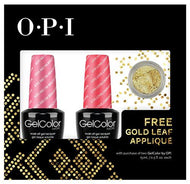 OPI GelColor - Nail Art Kit (Kiss Me, I'm Brazilian and Live.Love.Carnaval) with FREE Gold Applique, Kit - OPI, Sleek Nail
