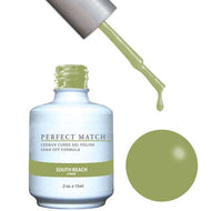 LeChat LeChat Perfect Match Gel / Lacquer Combo - South Beach 0.5 oz - #PMS144 - Sleek Nail