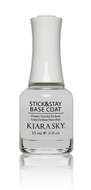 Kiara Sky - Stick & Stay Base Coat 0.5 oz, Nail Lacquer - Kiara Sky, Sleek Nail