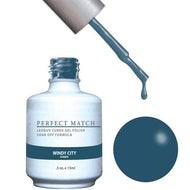 LeChat LeChat Perfect Match Gel / Lacquer Combo - Windy City 0.5 oz - #PMS142 - Sleek Nail