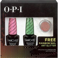 OPI GelColor - Nail Art Kit (Suzi Shops and Island Hops and Gecko Does Tricks) with FREE Rainbow Nail Art Glitter - #SPG50, Kit - OPI, Sleek Nail
