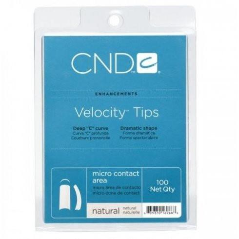 CND CND Velocity Tips - Natural 100 Qty - Sleek Nail