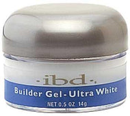 IBD - Ultra White Builder Gel (Brite White) 0.5 oz, Acrylic Gel System - IBD, Sleek Nail