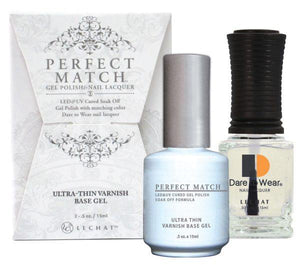 LeChat Perfect Match Gel / Lacquer Combo - Ultra-Thin Varnish Base Gel 0.5 oz - #PMB03, Gel Polish - LeChat, Sleek Nail