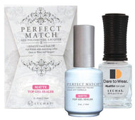 LeChat Perfect Match Gel / Lacquer Combo - Matte Top Gel Sealer 0.5 oz - #PMTM01, Gel Polish - LeChat, Sleek Nail