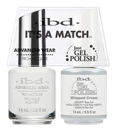IBD It's A Match Duo - Whipped Cream - #65467, Gel & Lacquer Polish - IBD, Sleek Nail