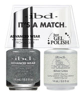IBD It's A Match Duo - Silver Lites - #65469, Gel & Lacquer Polish - IBD, Sleek Nail