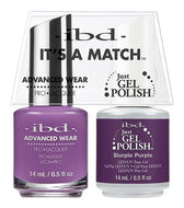 IBD It's A Match Duo - Slurple Purple - #65530, Gel & Lacquer Polish - IBD, Sleek Nail