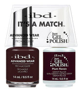 IBD It's A Match Duo - Plum Raven - #65535, Gel & Lacquer Polish - IBD, Sleek Nail