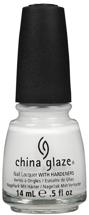 China Glaze - White On White 0.5 oz - #70255, Nail Lacquer - China Glaze, Sleek Nail