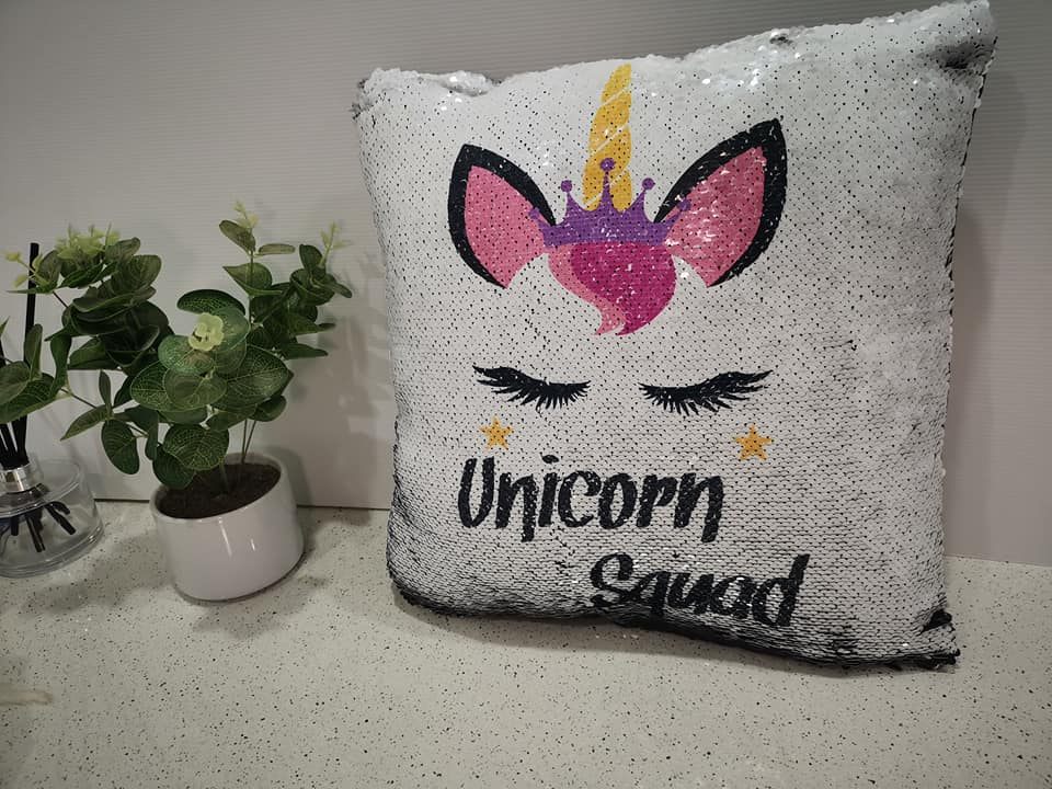 Unicorn Sequin Cushions