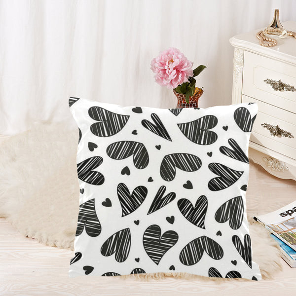 Hearts all around. Throw Pillow