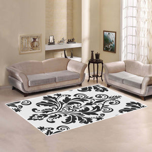 French Damask Area Rug