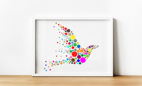 Rainbow bird. Digital Download.