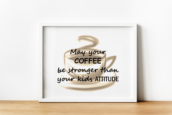 Funny Coffee Wall Decor. Digital Download.