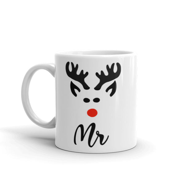 Mr & Mrs Reindeer Christmas Mug
