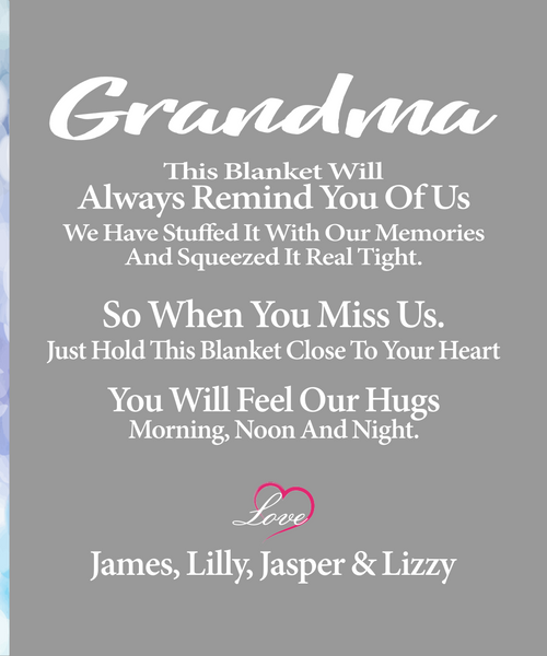 Grandma Personalised Blanket