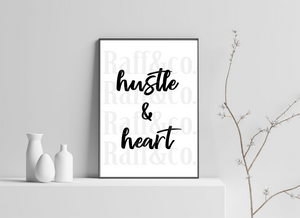 Hustle & Heart Printable