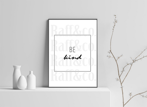 Be Kind Printable
