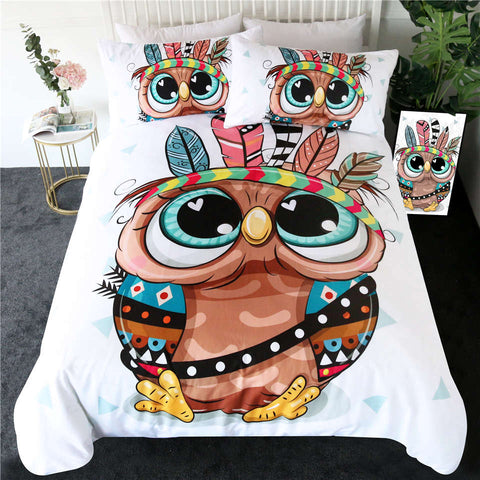 Cartoon Owl Bedding Set