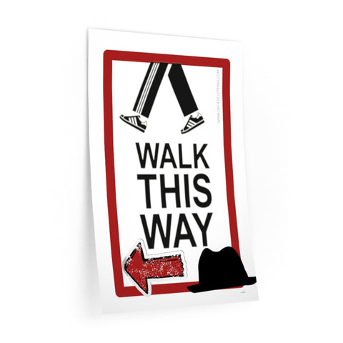 WALK THIS WAY (LEFT) HALLWAY DECALS