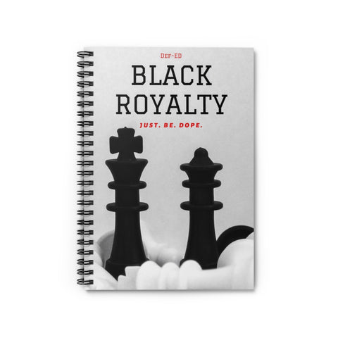 Def-ED Black Royalty Chess Spiral Notebook - Ruled Line