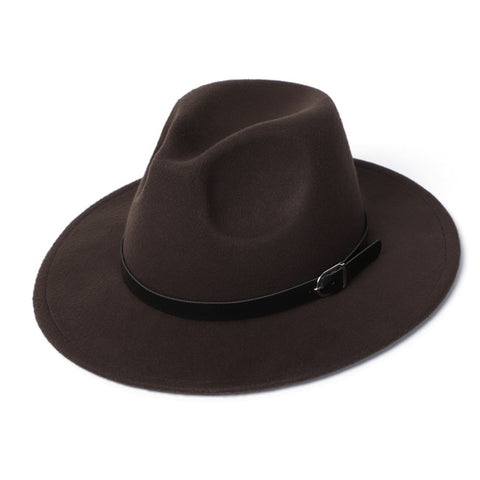 Autumn Winter Warm Fedora Hat Men Women Imitation Woolen Top Felt Jazz Hats Godfather Sombrero Caps Gentleman Hat Sombrero Mujer