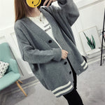 Fashion 2019 Autumn Winter Women Sweater Cardigans Blue Pink Solid Korean Cardigans Single Breasted Jumper Sweater Harajuku Top