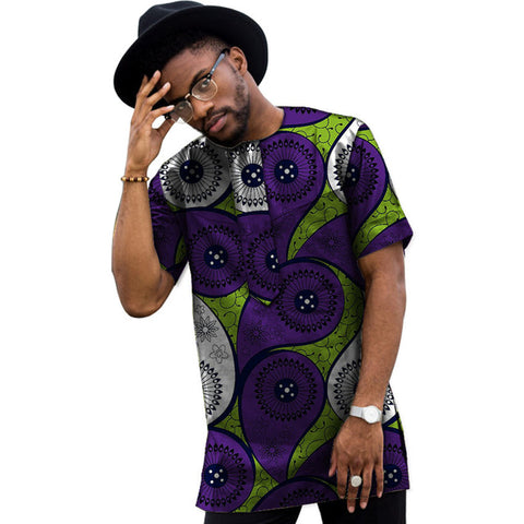 Summer Dress Man's African Print Men Tops Dashiki Men Wax Casual T-Shirt Custom Made Printed African Men Clothing Customized