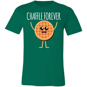 Chaffle Forever - White Text Unisex Shirt
