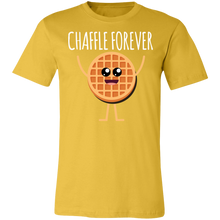 Load image into Gallery viewer, Chaffle Forever - White Text Unisex Shirt