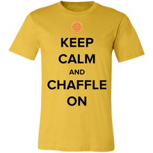 Load image into Gallery viewer, Keep Calm and Chaffle On - Black Text Unisex Shirt