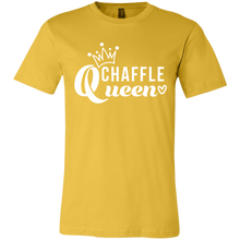 Load image into Gallery viewer, Chaffle Queen - White Text Unisex Shirt