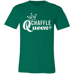 Chaffle Queen - White Text Unisex Shirt