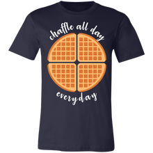 Load image into Gallery viewer, Chaffle All Day - White Text Unisex Shirt