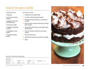 Keto Chaffle Recipes eBook Cookbook