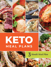 Load image into Gallery viewer, Keto Meal Plan - 3-Month Keto Meal Plans with Grocery Lists