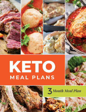 Keto Meal Plan - 3-Month Keto Meal Plans with Grocery Lists (Volume 1)