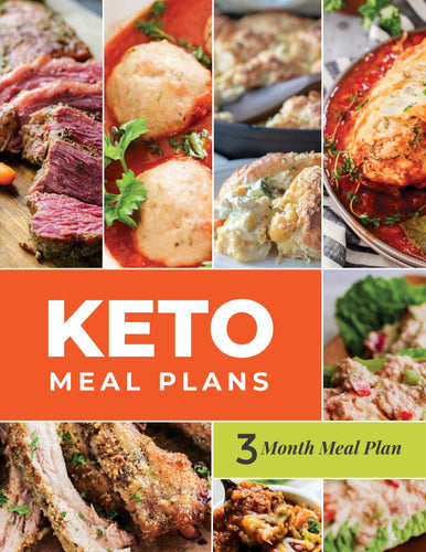 Keto Meal Plan - 3-Month Keto Meal Plans with Grocery Lists