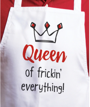 Load image into Gallery viewer, Queen of Frickin' Everything Apron