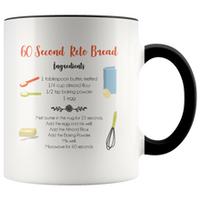 Load image into Gallery viewer, 60 Second Keto Bread Mug Design #3