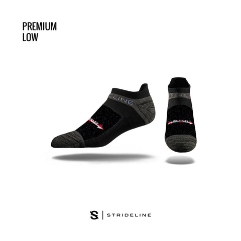 Strideline Low-Cut Premium Crew Socks