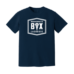 Mass Box Lax – Comfort Colors Tee - Navy